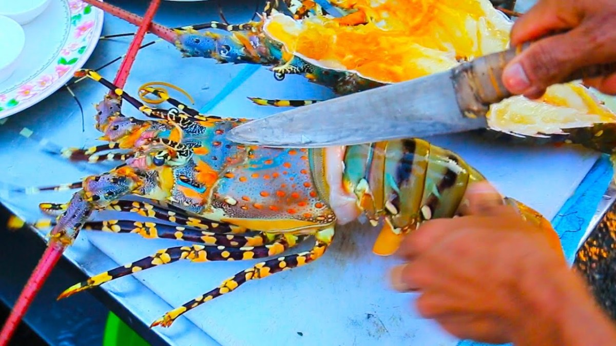 Giant Rainbow Lobster - Street Food - Hua Hin, Thailand